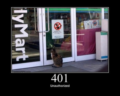 HTTP Cats 401 Unauthorized
