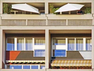 Balconies at La Maison du Fada in Marseille
