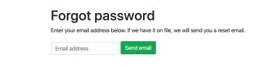 reset password field for your secure reset password workflow