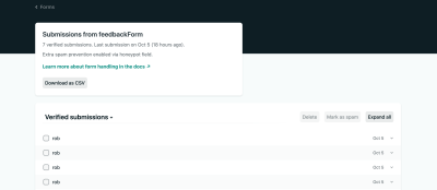 Form Entries