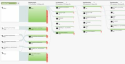 A blurred image of a Google Analytics Flow Dashboard