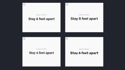 Four poster ideas that all use different typefaces - some are more serious and other more playful