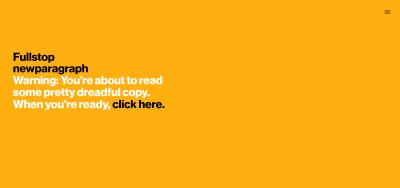 Screenshot of copywriter Jon Ryder's portfolio website homepage