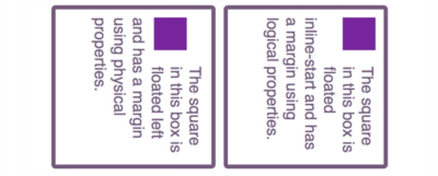 Two boxes containing purple blocks, the lefthand block beig misaligned