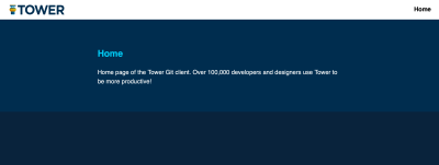 Home page of the Tower Git client