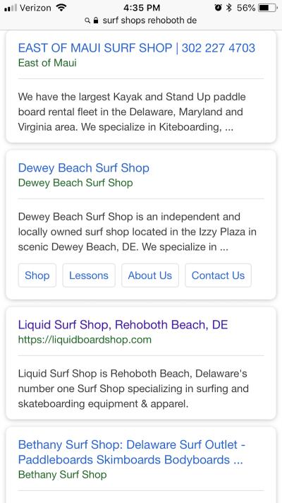 Liquid Surf Shop's metadata is well-written and to the point.Liquid Surf Shop's metadata is well-written and to the point.