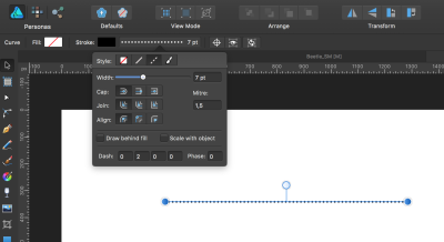 Settings for the first part of creating the halftone pattern.
