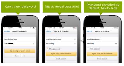 Showing Passwords on Log-In Screens by Luke Wroblewski (2015)