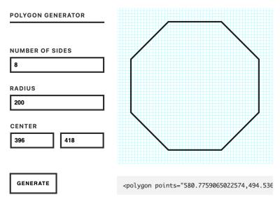 SVG Polygon Generators