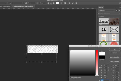 creating a while logo on a dark background