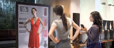 Augmented reality used in retail scenarios
