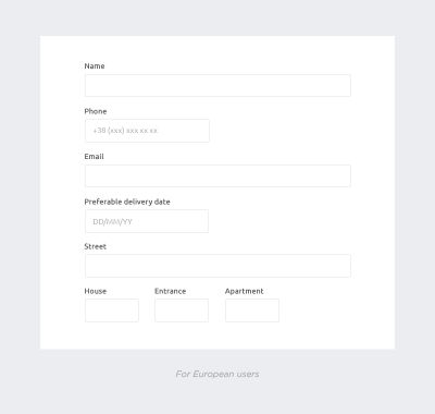 Provide more hints to simplify users' perception of the form