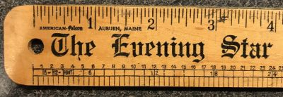 Ruler shown on the Wikipedia page