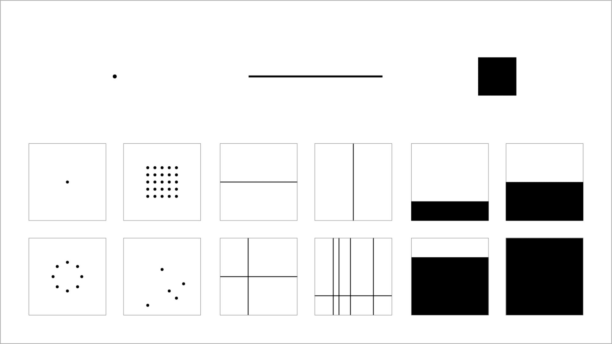 Grammaire visuelle : les points, les lignes et les plans