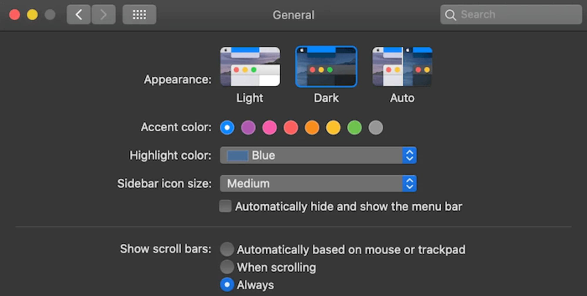 Light and dark mode on DuckDuckGo