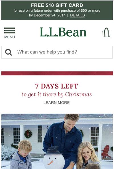 L.L.Bean Navigation
