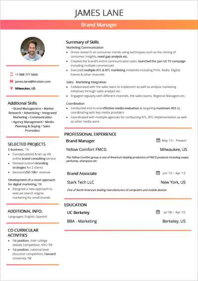 Functional Résumé