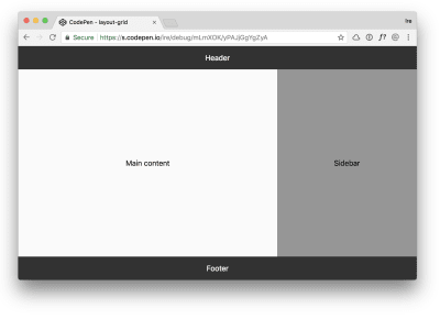 The layout in a supporting browser