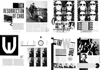Brody's pages from The Face magazine