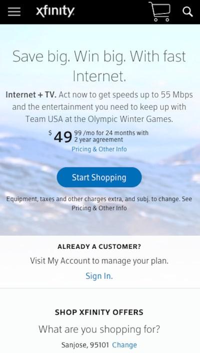 Xfinity December promotion