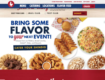 Zaxby's focuses all of their language on how their chicken helps you.