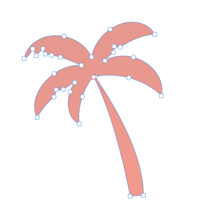 The palm tree once the Add boolean operation has been applied.