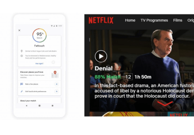 The picture includes screenshots of Google Maps and Netflix to demonstrate how a system could appear that explains its decisions. Both are good first steps, but there are many improvements to be made.