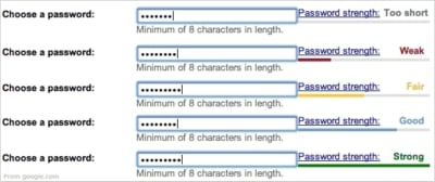 Password strength meter design pattern
