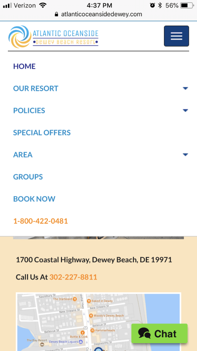 The Atlantic Oceanside site also includes the CTA in the navigation.