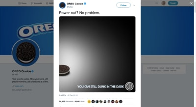 Oreo Super Bowl meme