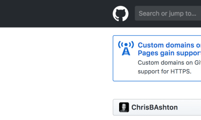 GitHub landing view… keep an eye on this corner