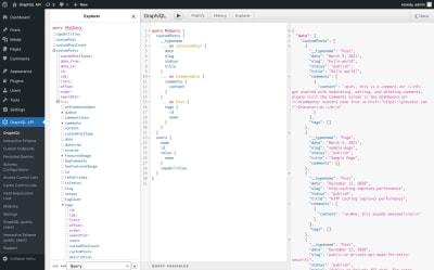 The GraphQL client in GraphQL API for WordPress