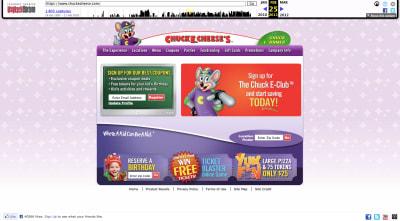 Chuck E. Cheese website 2011