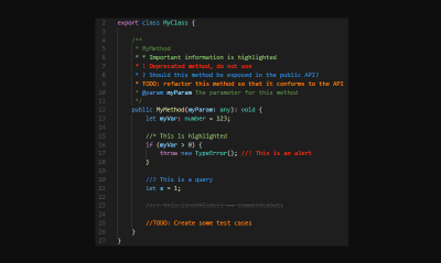 Improve your code commenting
