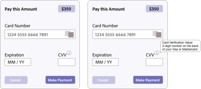 Prototype of a form with a tooltip