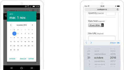 A date-picker based on input type=date on Android and iOS