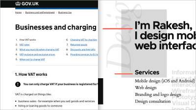 examples of lange and content-focused websites