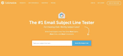 CoSchedule email subject line tester