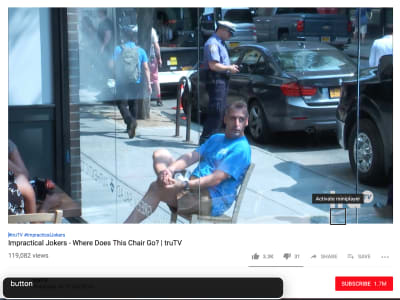 screenshot of YouTube player