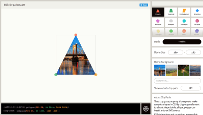 Image of Clippy, a tool to help you create custom CSS shapes