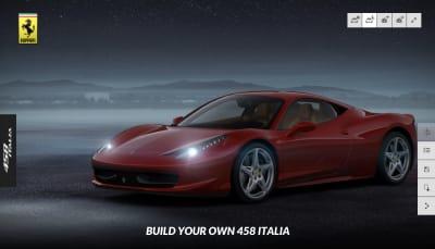 Ferrari's configurator