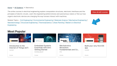edX page for electronics courses