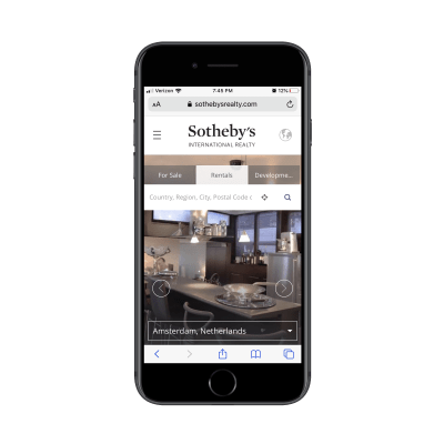 Sotheby's home page rental search