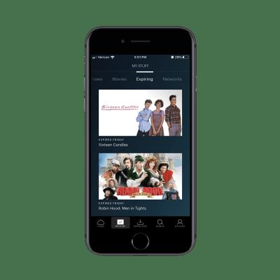 Hulu app expiring content