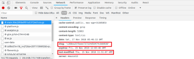 Add ETag and Last-Modified Headers to prevent downloading of valid cached assets