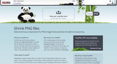 TinyPNG website 2014