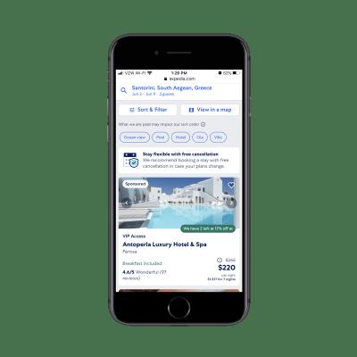 Résultats Expedia pour 'Santorini Greece hotels'