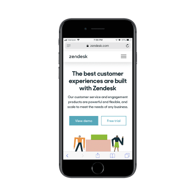 Zendesk free demo button