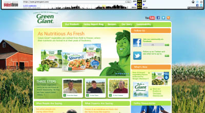 Green Giant website 2013