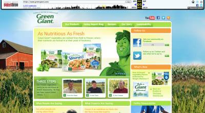 Green Giant website 2013